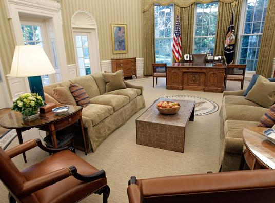 Gone Is The Sunburst Rug That Mr Bush Loved So Much Designed By His Wife Laura He Used To Say It Evoked A Spirit Of Optimism