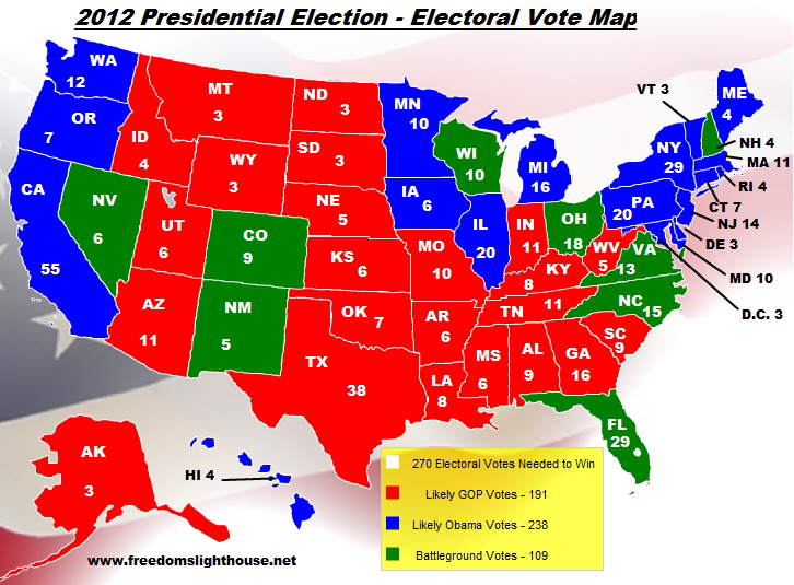 electoral college map 2010 - photo #1