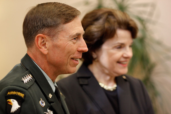 Gen. David Petraeus with California Sen. Diane Feinstein