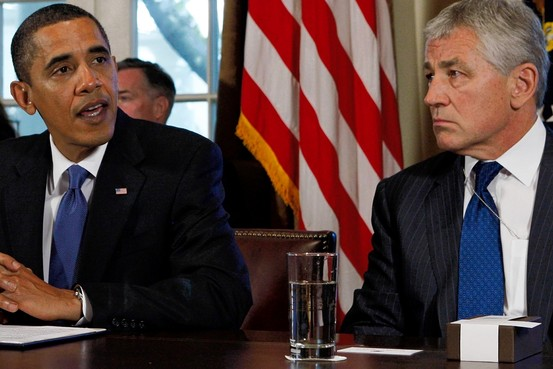 President Barack Obama and former Sen. Chuck Hagel